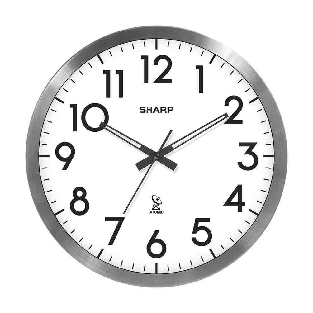 Sharp Digital Atomic Wall Clock Atomic Wall Clock Wall Clock Simple Wall Clock