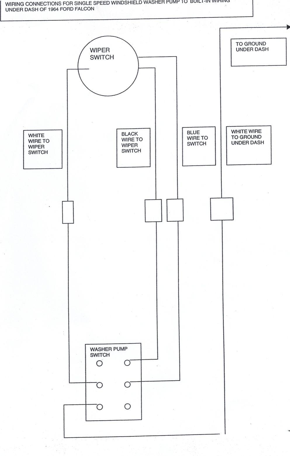 1966 Chevelle Windshield Wiper Washer Wiring Diagram