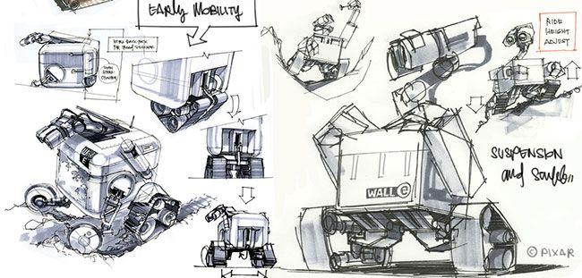 Wall - e concept art.   Graphic Novel Inspiration   Pinterest ...