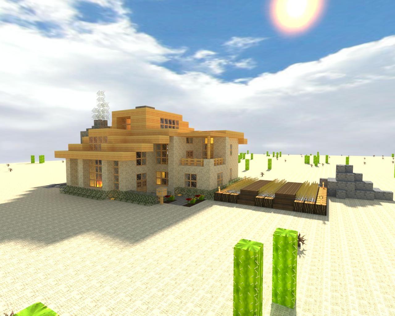 Desert Home in Minecraft | Modern Minecraft | Pinterest | Rund ums ...