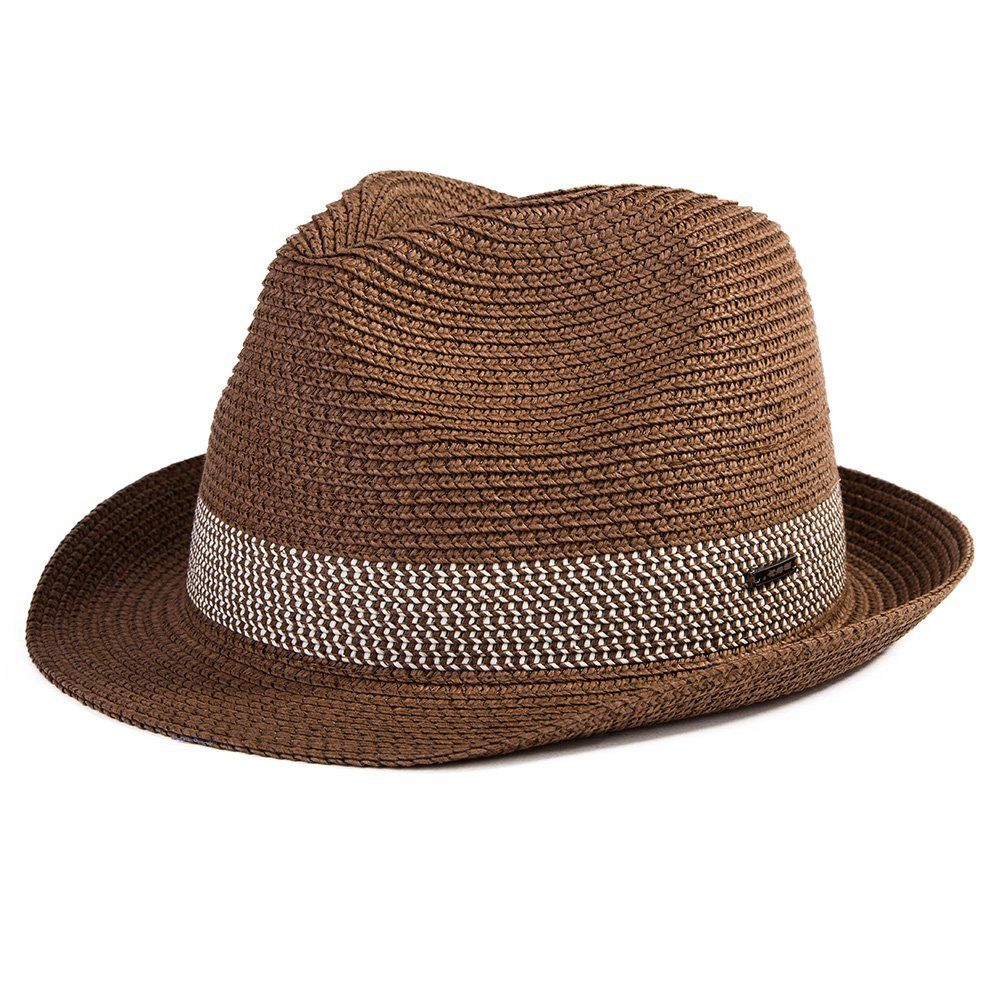 39d10d5407c SiggiHat Fedora Straw Fashion Sunhat Packable Summer Panama Beach Hat Men  Women 56-61CM at Amazon Men s Clothing store