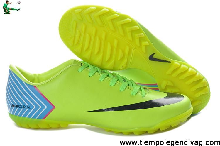 b7d8e8c2b Latest Listing Discount Nike Mercurial Vapor 10 TF Fluorescent yellow Blue  Soccer Boots For Sale