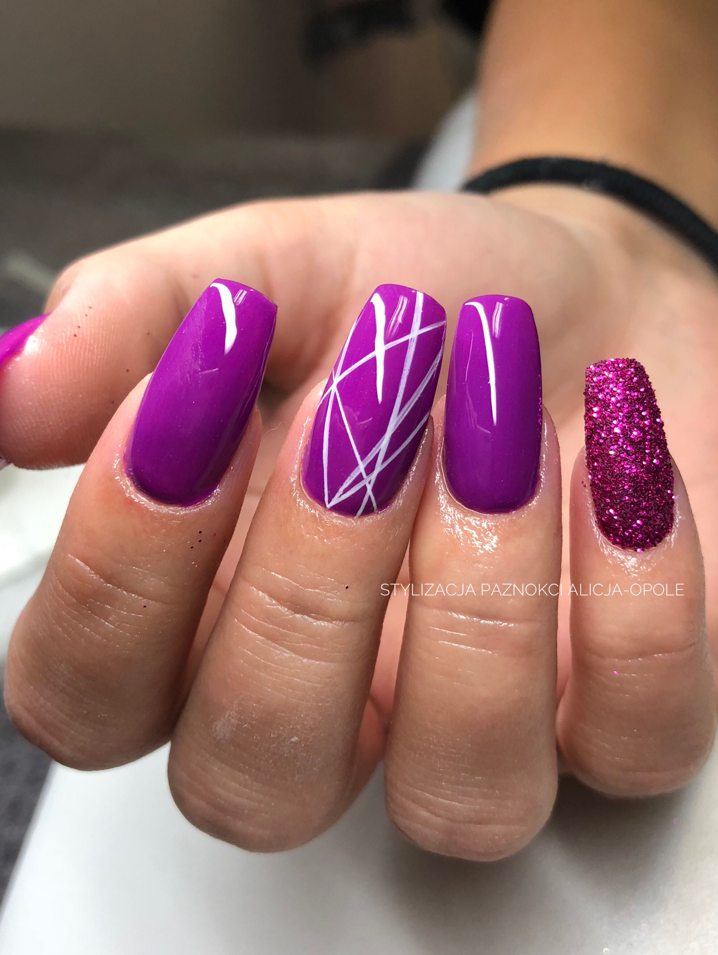 Trumienki Coffinnails Violetnails Nails Nailart With Images