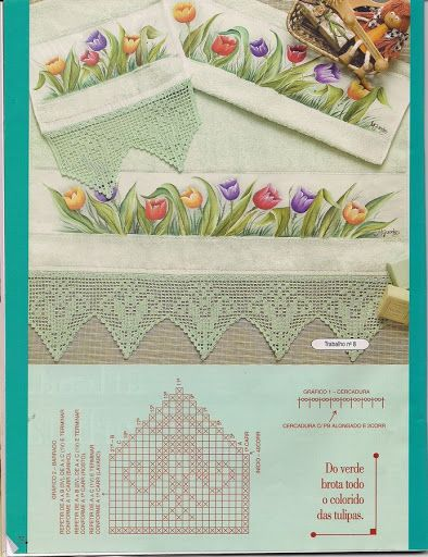 Trabalhos de Pintura em Crochê - Banho N.º 1 - Lidia Arte - Álbuns da web do Picasa