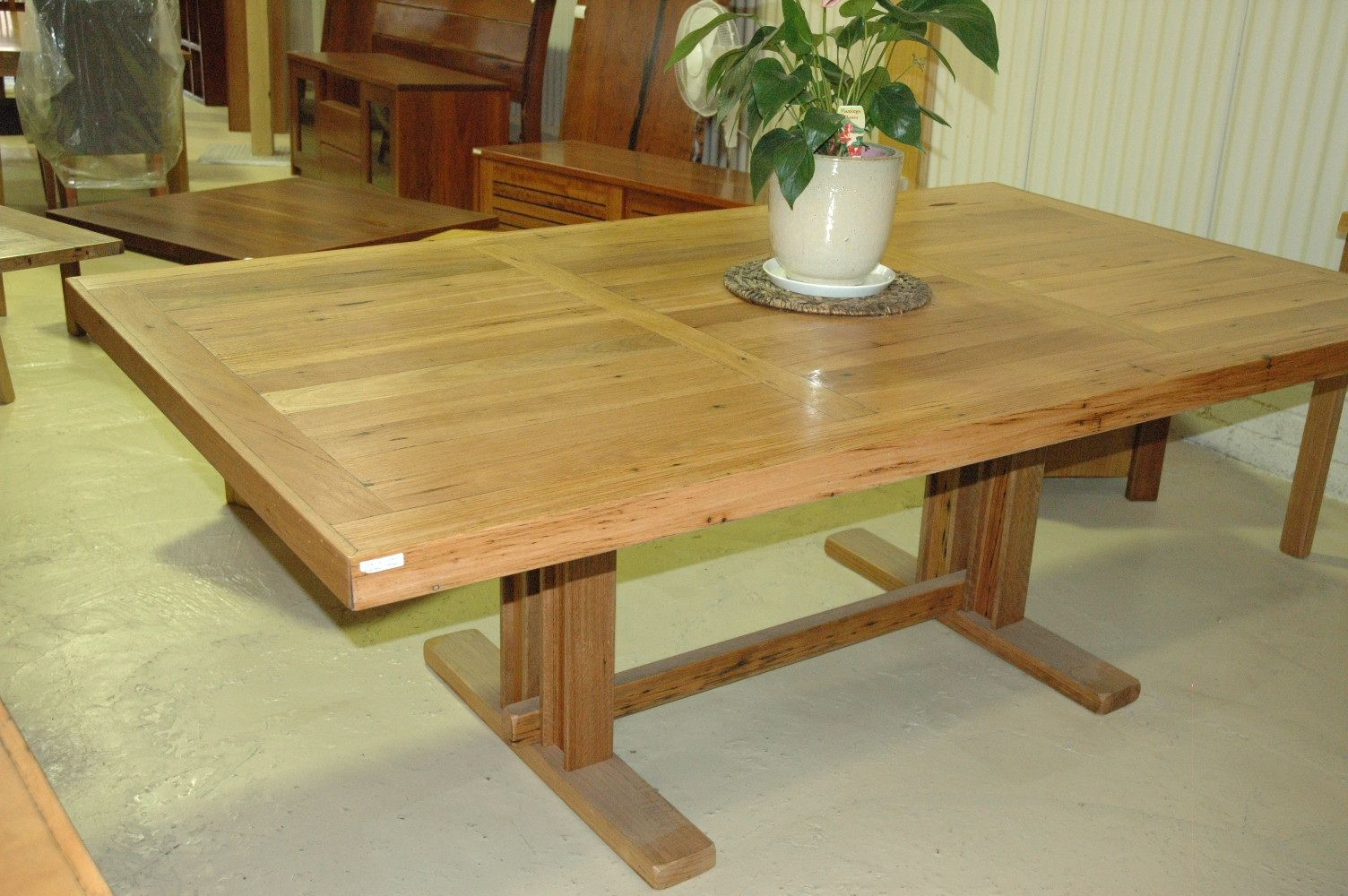 Hamptons Style Recycled Timber Dining Table Quality Furniture Unique Design