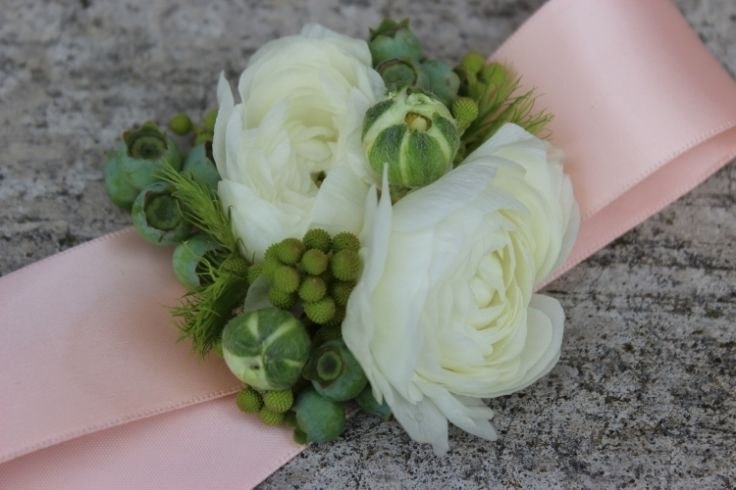 Prom wedding or special occasion corsage.