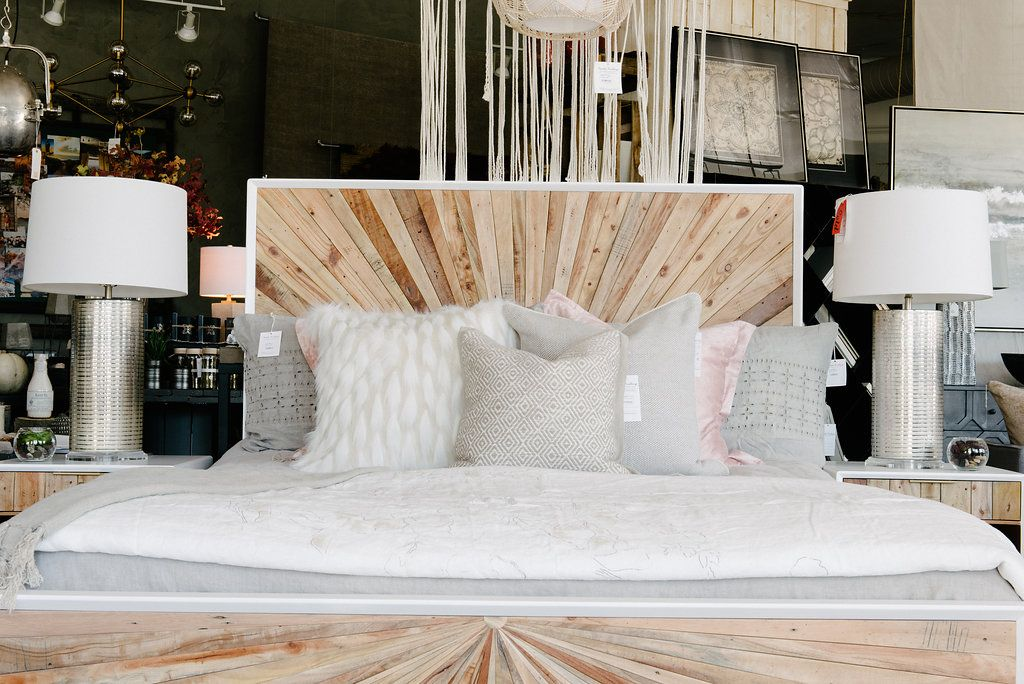 Bed, Lamp Ideas, Lamps, Cool Bed Frame, Bedroom Ideas ... on Modern Boho Bed Frame  id=65988