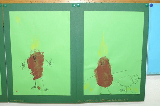 Der kartoffelk nig trifft das wildschwein kindergarten for Herbstbasteln in der kita