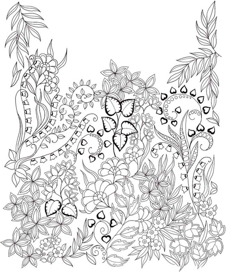 Dover Keep Calm &Color Gardens of Delight Coloring Page 2 | Dibujo