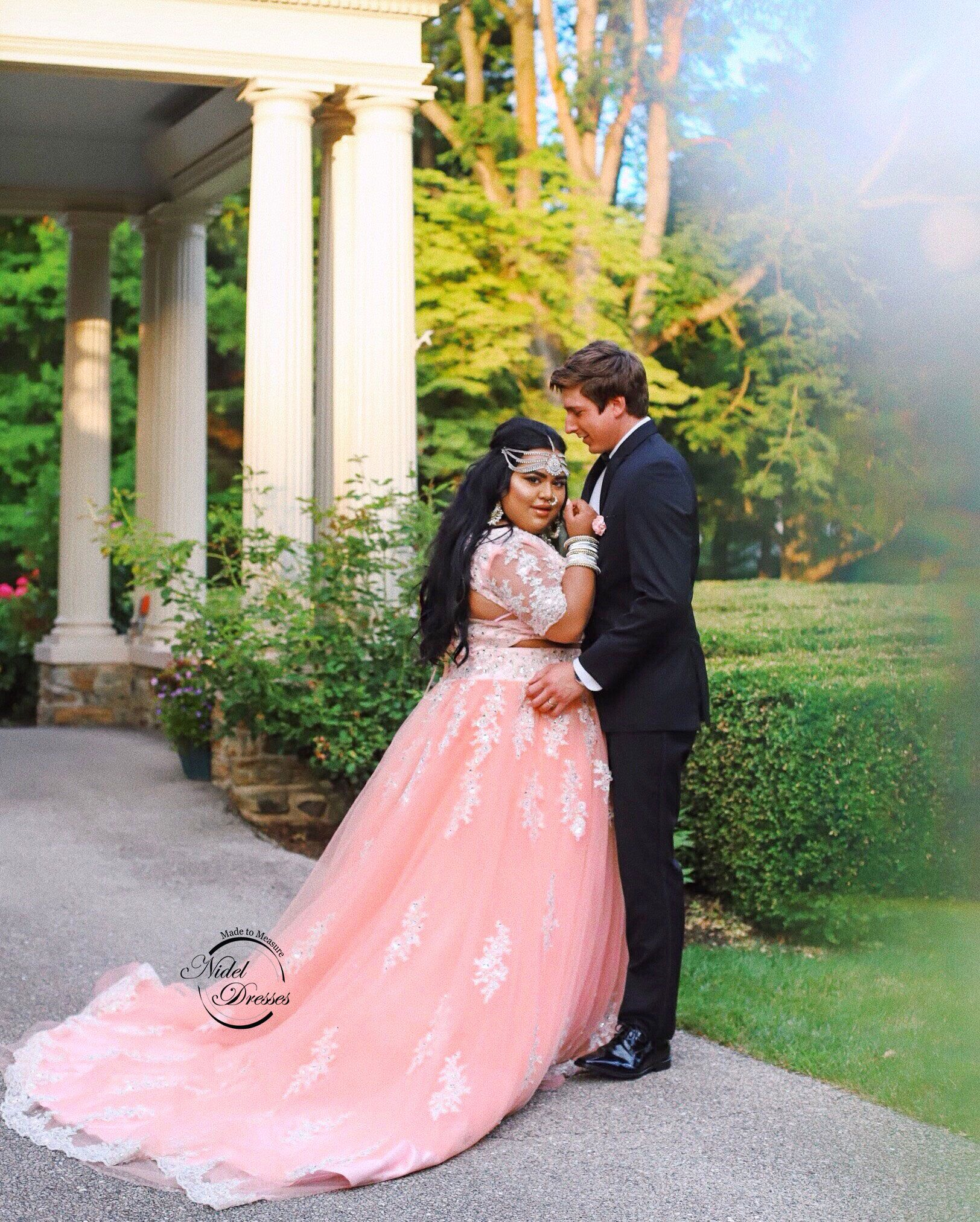 3267983b117 Nabela Noor in a beautiful pink custom wedding dress  lehenga. Order yours  today! Exclusively at Nidel Dresses.