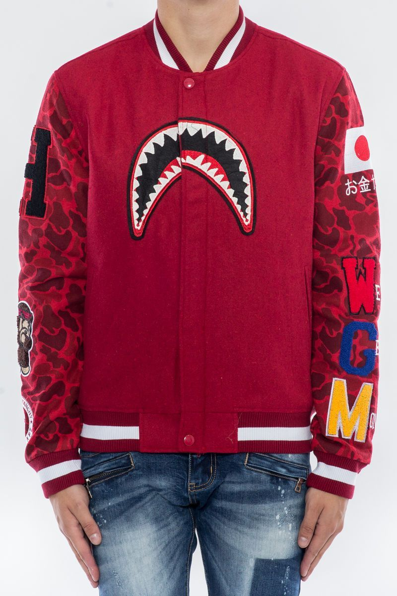 912623df2 Hudson - Red We Killed Ape Varsity Jacket | Products | Jackets, Men ...