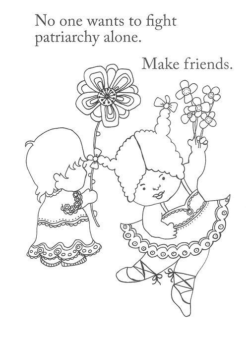 Feminist Coloring Pages | People Power Coloring Pages | Pinterest ...