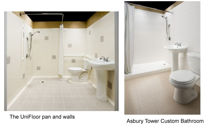 Unifloor System Is A Seamless Bathroom System That