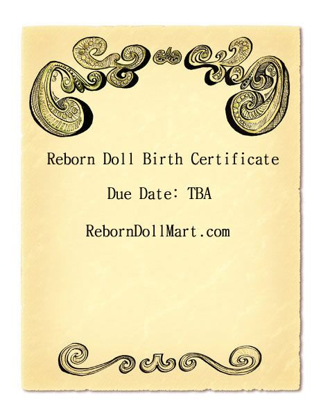 Reborn Doll Birth Certificate Reborn Dolls Pinterest Reborn - best of russian birth certificate translation sample