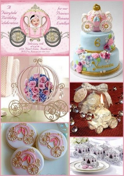 FairyTale Cinderella Coach Birthday Party Ideas from HotRefcom