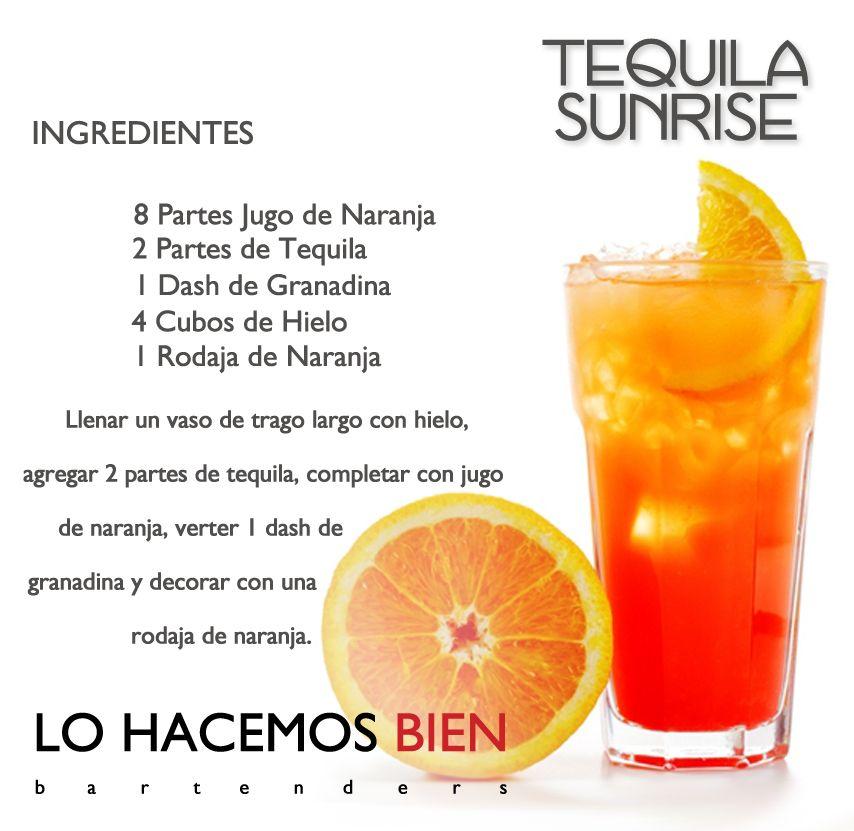 Tequila Sunrise Festejá Con Estilo Como Preparar Un Tequila Sunrise De Lo Hacemos Bien Bartenders Recetas De Tragos Tragos Con Alcohol Recetas De Bebidas