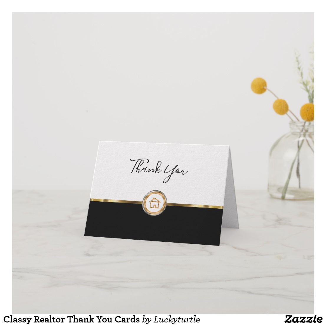 classy realtor thank you cards  zazzle  thank you