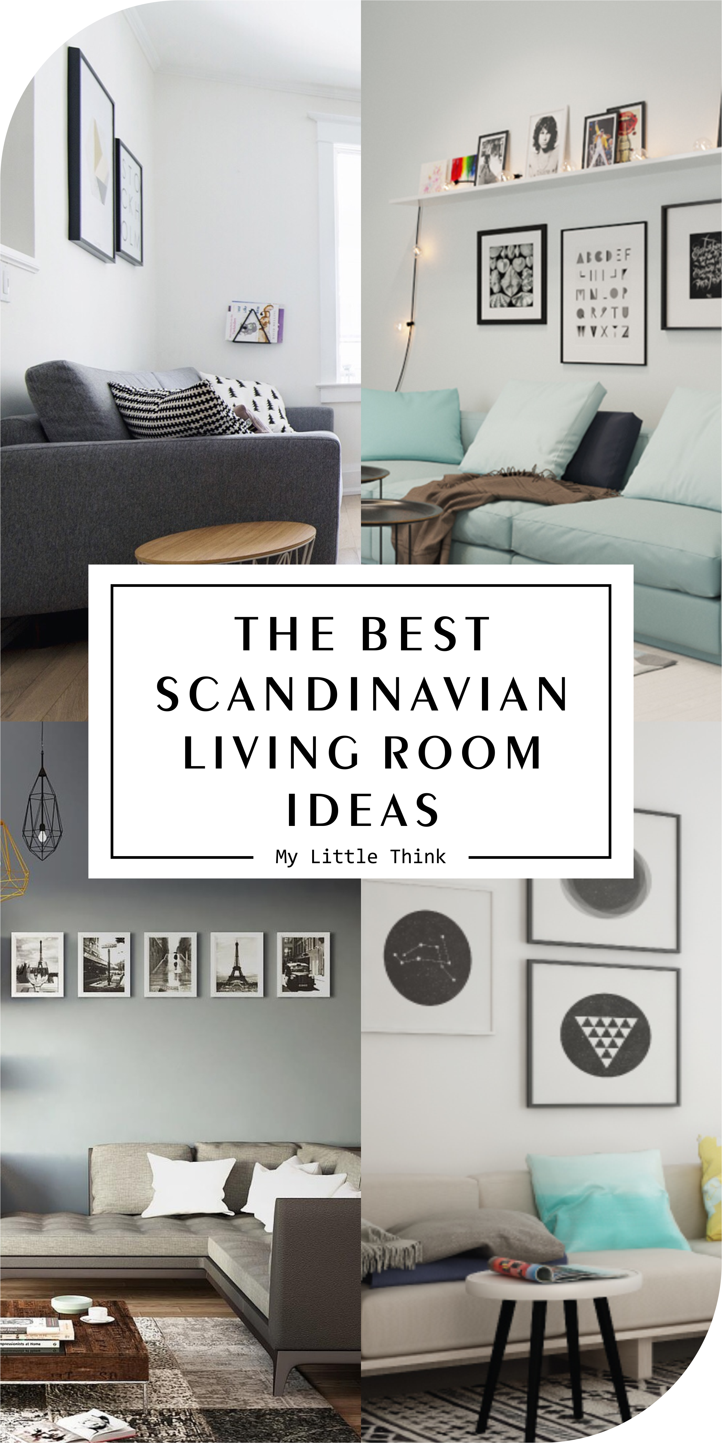 By using Scandinavian decorations our living room