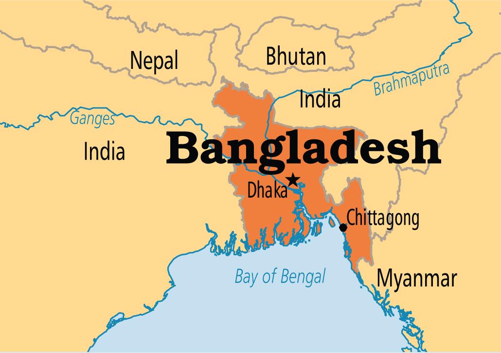 A map of Bangladesh | Visit maps of countries | Nepal, Bhutan ...