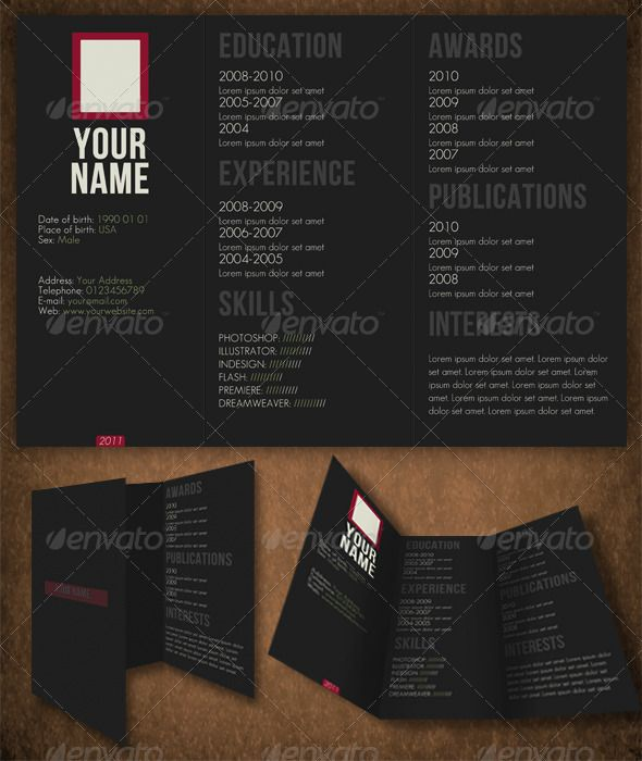 horizontal resume may have to do this to get back into the swing - web design resume template