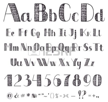 Gallery For Cool Fonts To Draw Alphabet