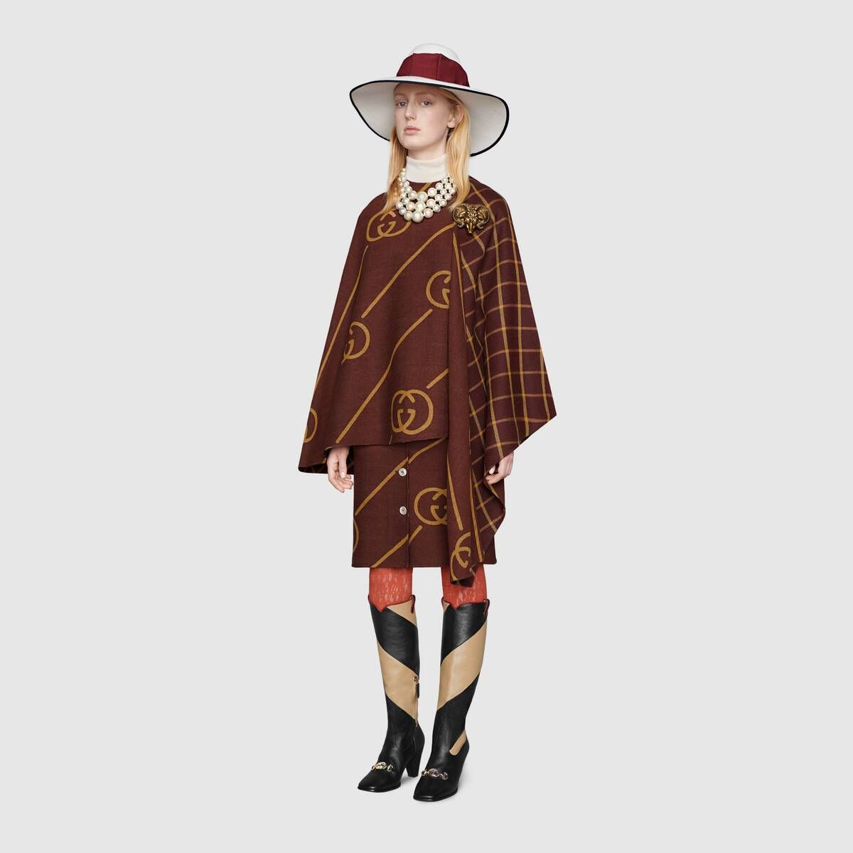 Gucci Jupe en laine avec motif GG