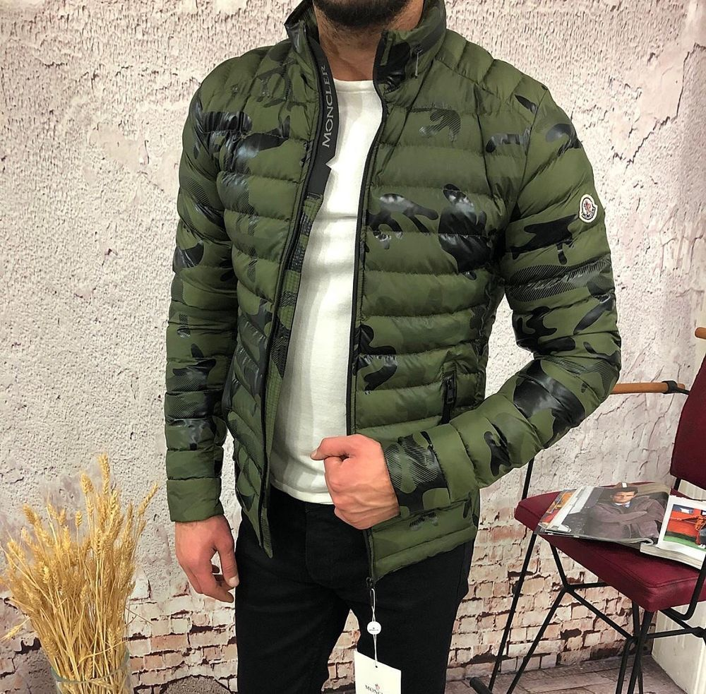 Brand New Moncler Jacket ! Camo Green in All Sizes! With