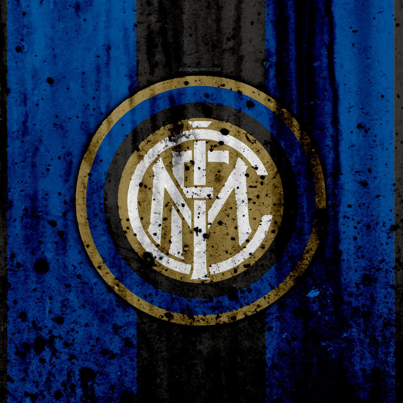 fc inter milano 4k logo inter serie a pietra texture milan