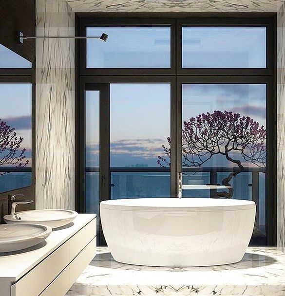 Italian Marble A Swedish Sunset And Bathtub Built For Two The
