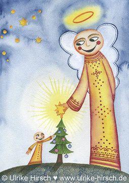 Meditation Weihnachten 2019.Weihnachts Klappkarte Engel Ulrike Hirsch In 2019 Ulrike Hirsch