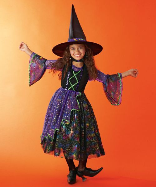 rainbow witch girls costume | Witch costumes | Pinterest | Witch ...