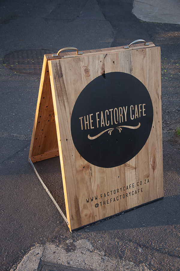 An A-frame sign made from old pallet wood, designed for \'The ...