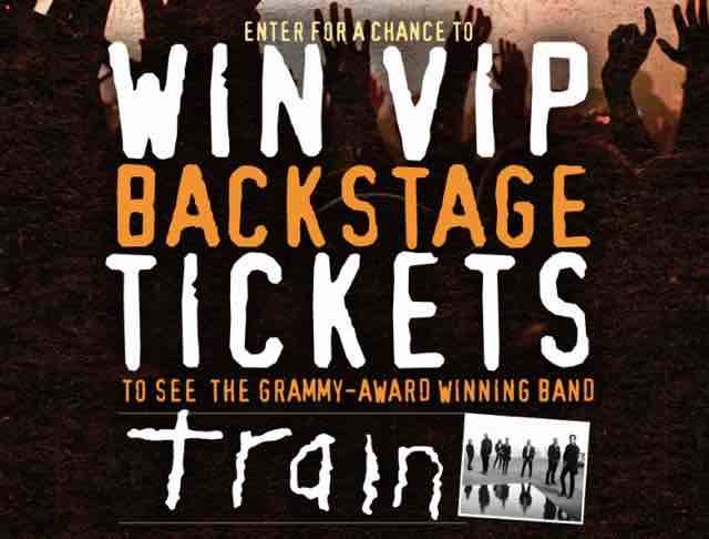 Enter to win $5,000 Cash & Tickets to see Train Live in San Francisco! ARV: $5,500 [US Only, 21+, Daily Entry, Ends May 31, 2016] Mar 6, 2016Amy Share the love!