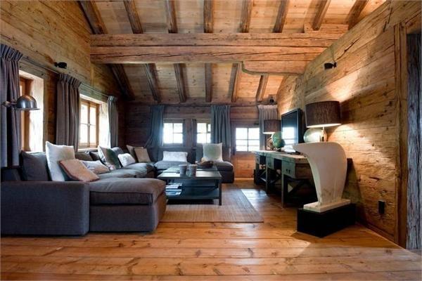 Rivestimento legno interior design montagna