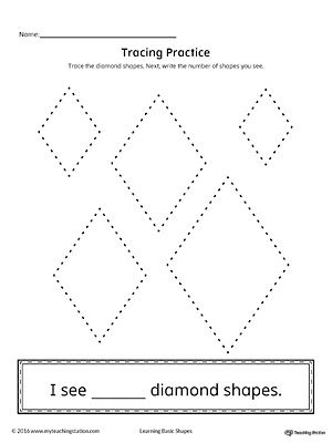 Geometric Shape Counting and Tracing: Diamond in 2018 | Shapes ...