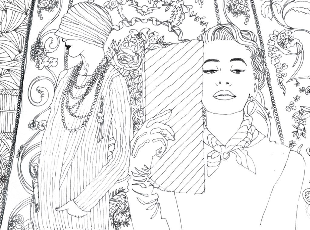 Pocket Posh Panorama Adult Coloring Book: Fashion Unfurled - Andrews ...