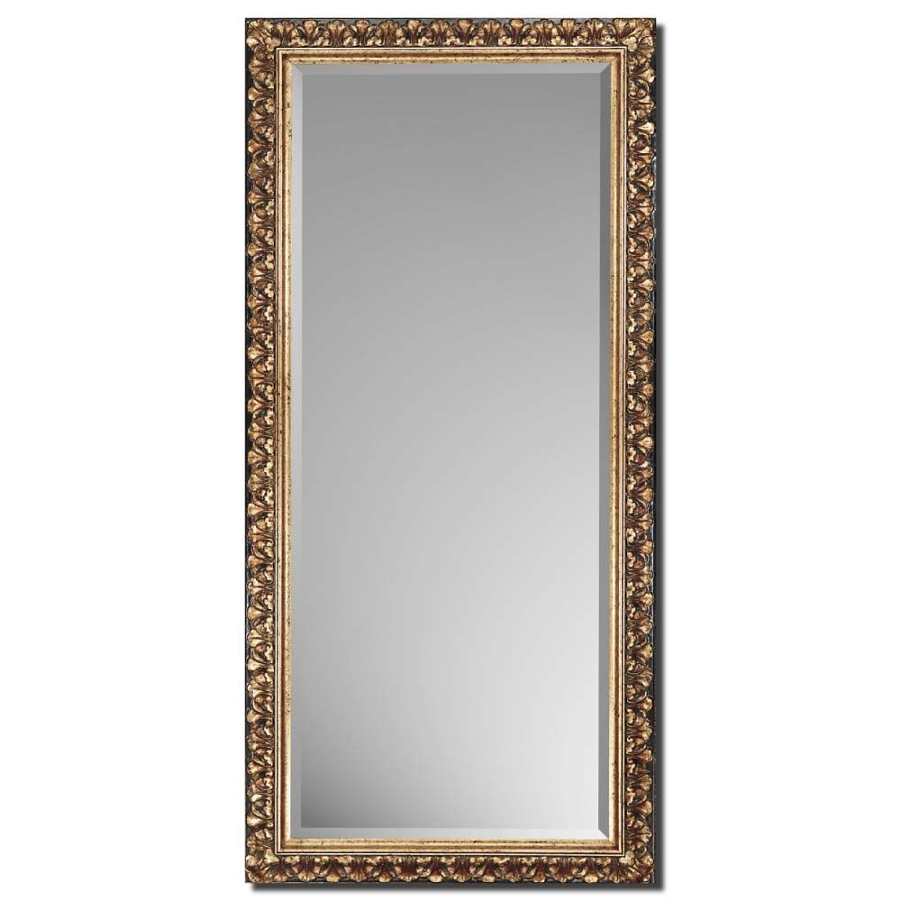 Traditional Antique Gold Beveled Mirror In Leaner Style Antique Gold Mirror Mirror Mirror Decor