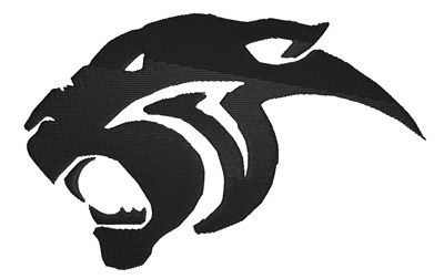 black panther logo embroidery design black panther embroidery rh pinterest com School Panther Logo Panther Paw Logo