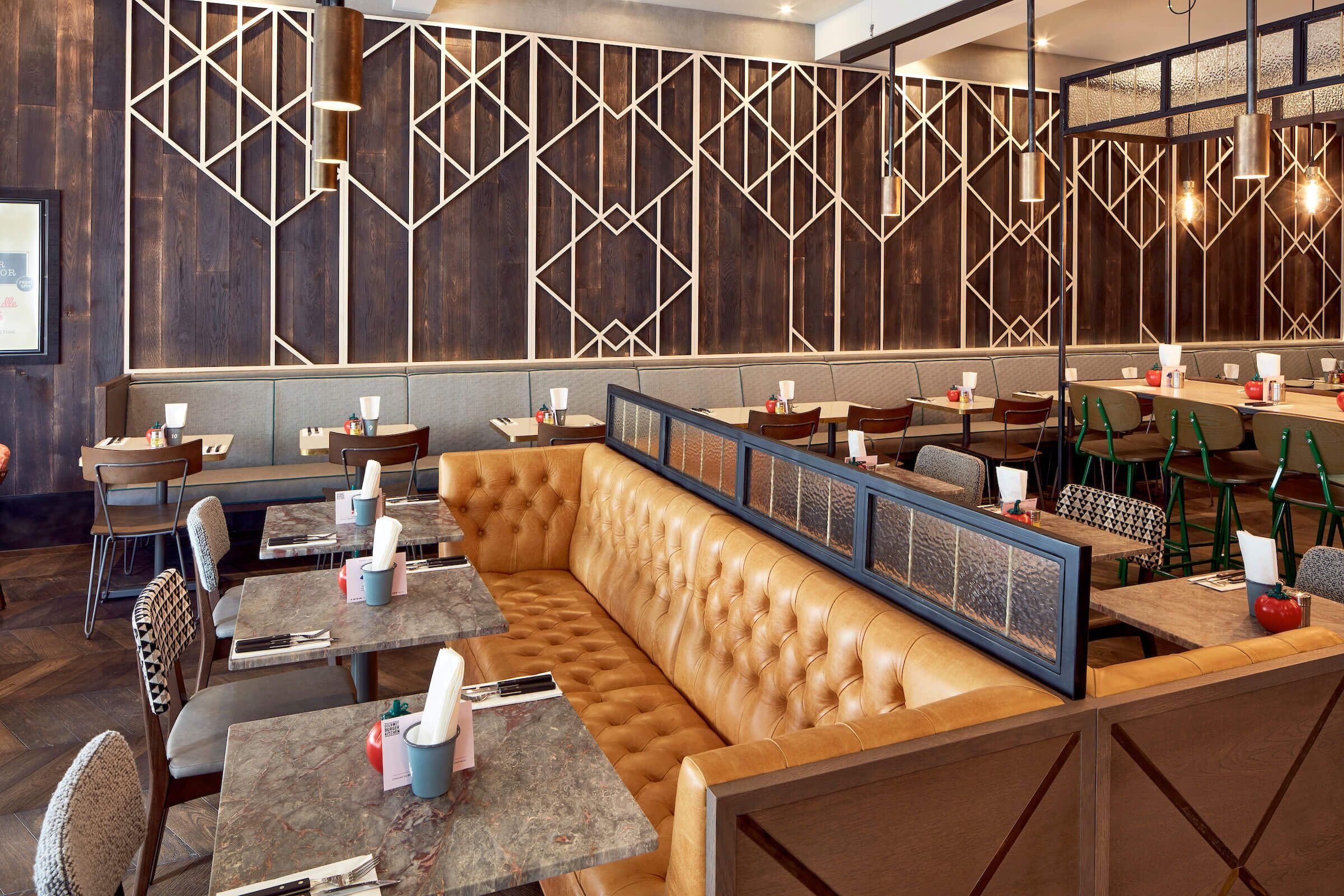 GBK Staines  Bespoke Restaurant Seating   Craftwood is part of Restaurant seating -