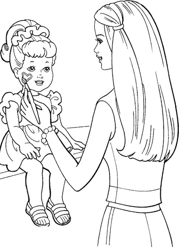 Barbie Painting Doll Coloring Pages | Barbie painting ...