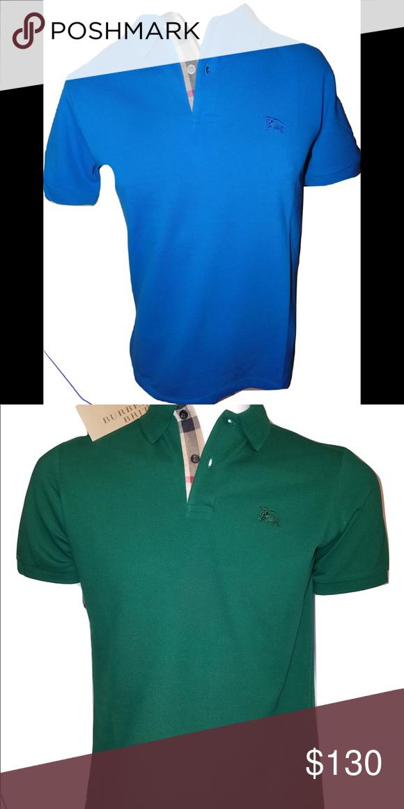 Burberry lot of 2 polo shirts Short sleeve check placket polo shirts lot of  2. d0ec48a34da0