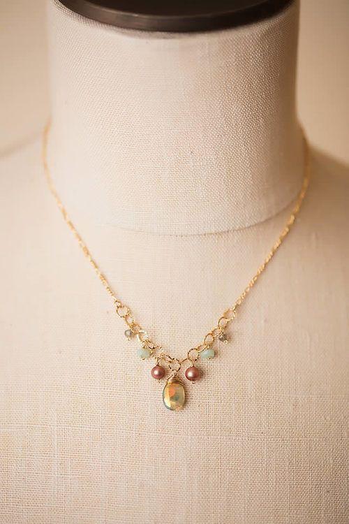 Simple elegance handcrafted chandelier gemstone necklace with simple elegance handcrafted chandelier gemstone necklace with unique gemstone focal on gold filled vermeil aloadofball Choice Image