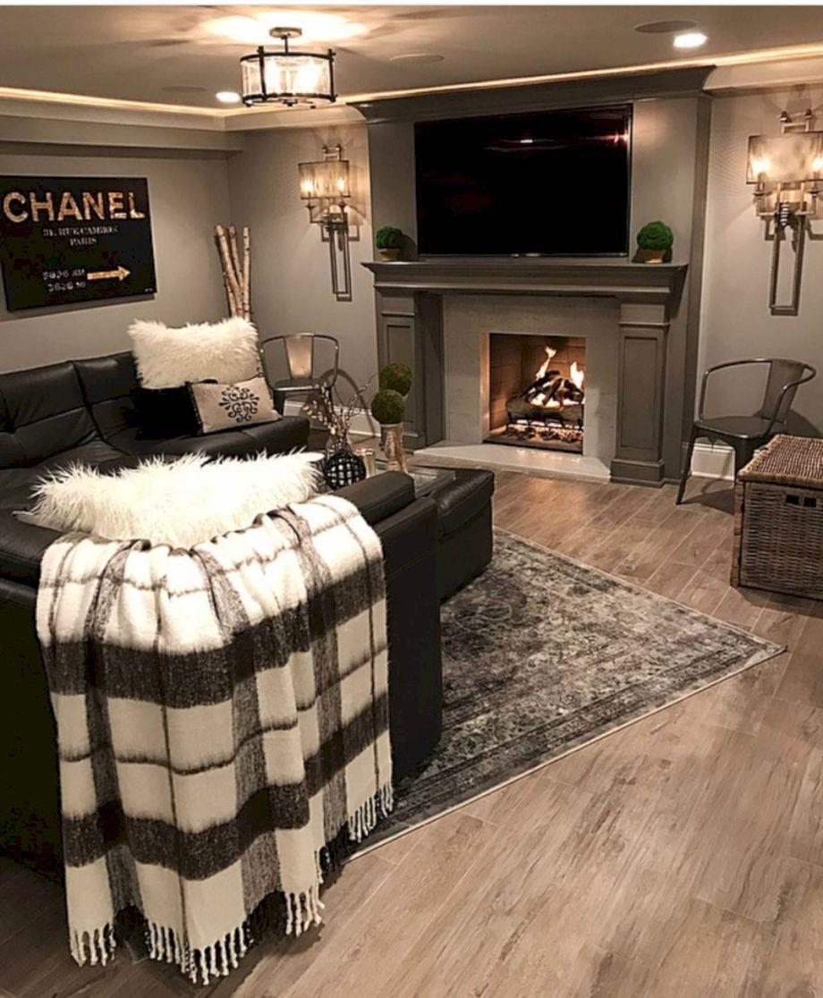 57 Small Basement Apartment Decorating Ideas Roundecor Home New Homes Home Living Room