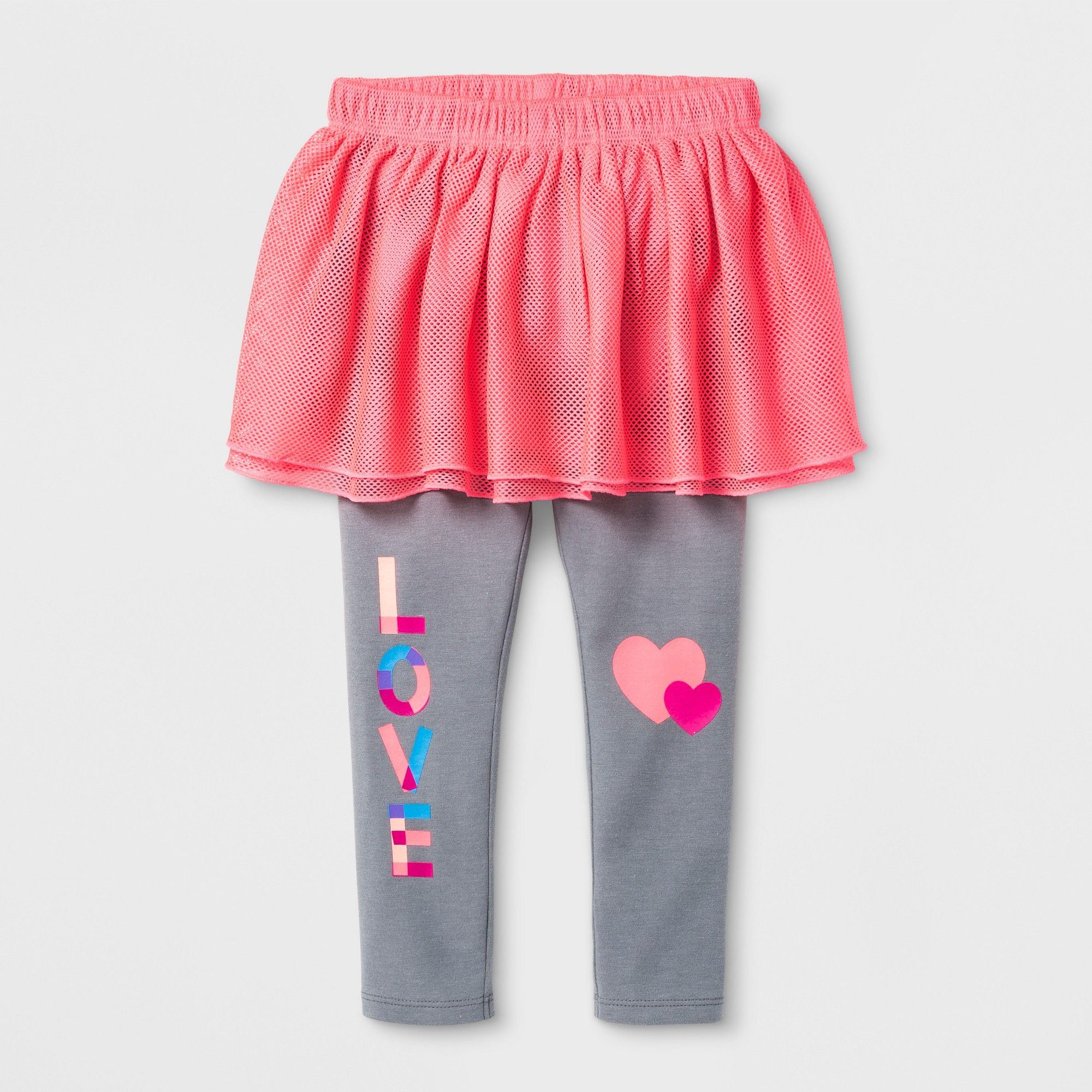 323e20f9d4020 Toddler Girls' V-Day Skeggings - Cat & Jack Coral 3T, Gray | Products