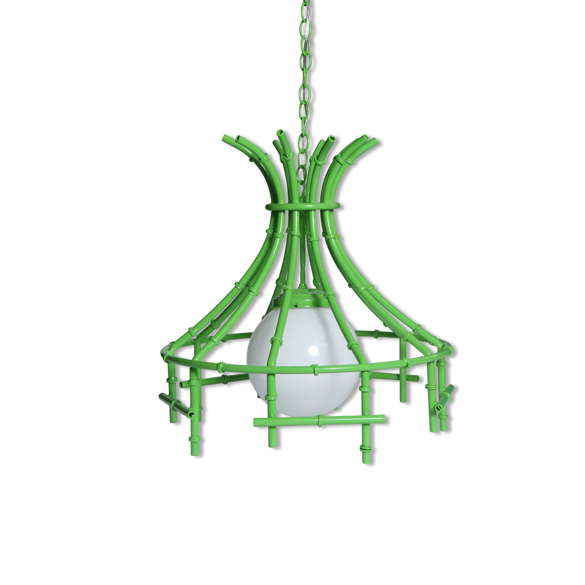 Faux bamboo chandelier in lime products faux bamboo chandelier in lime arubaitofo Images