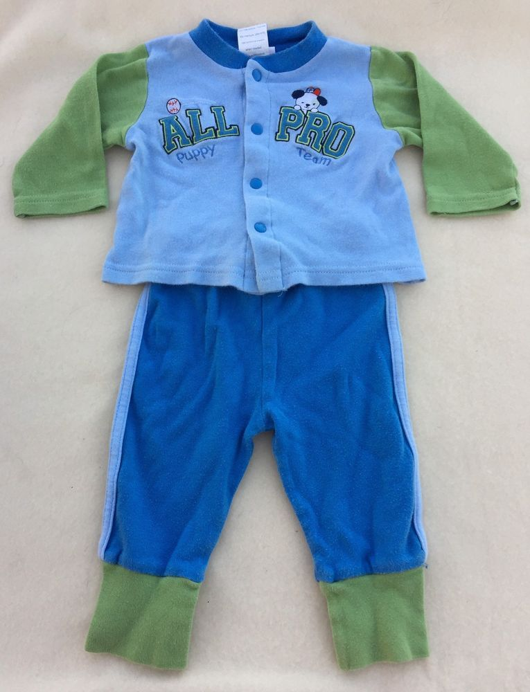 cc0f86295 Baby Boy Outfit 3-6 Month Bon Bebe Long Sleeve Top Bottom Set ...