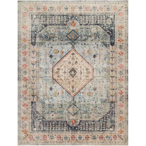 Magnolia Home Graham Blue & Antique Ivory Rug