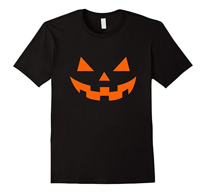 Men's Pumpkin's Horror Smile - Halloween T-Shirt 2XL Black