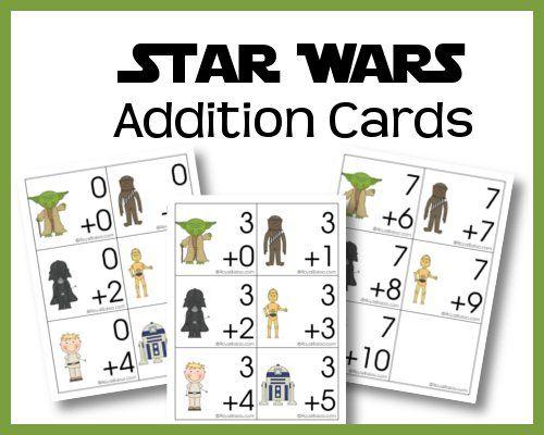 Star Wars Addition Cards Royal Baloo Star Wars Classroom Star Wars Classroom Theme Star Wars Activities