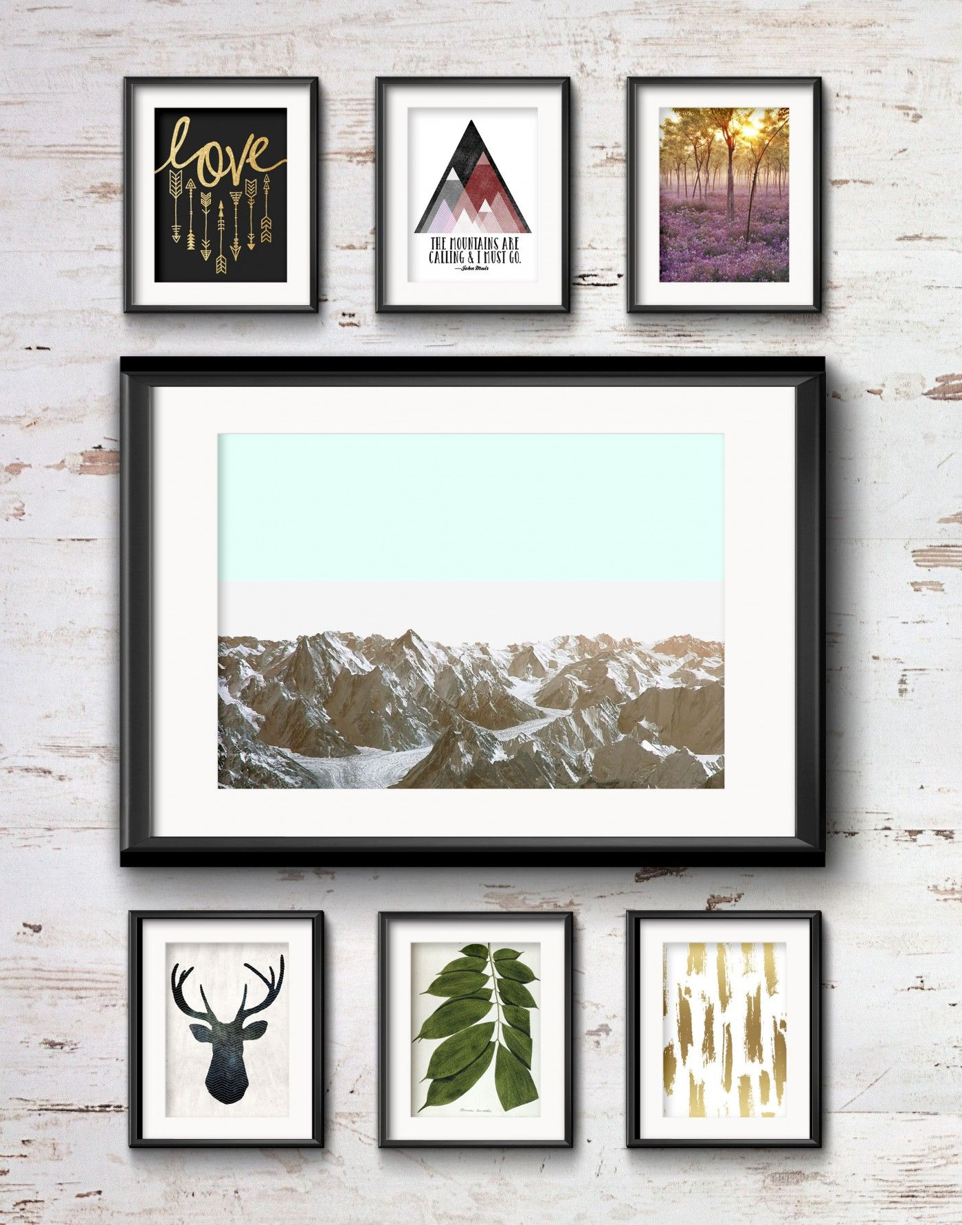 Frame Game: Cozy Rustic Vibe for a Cabin Gallery Wall | Dream Home ...